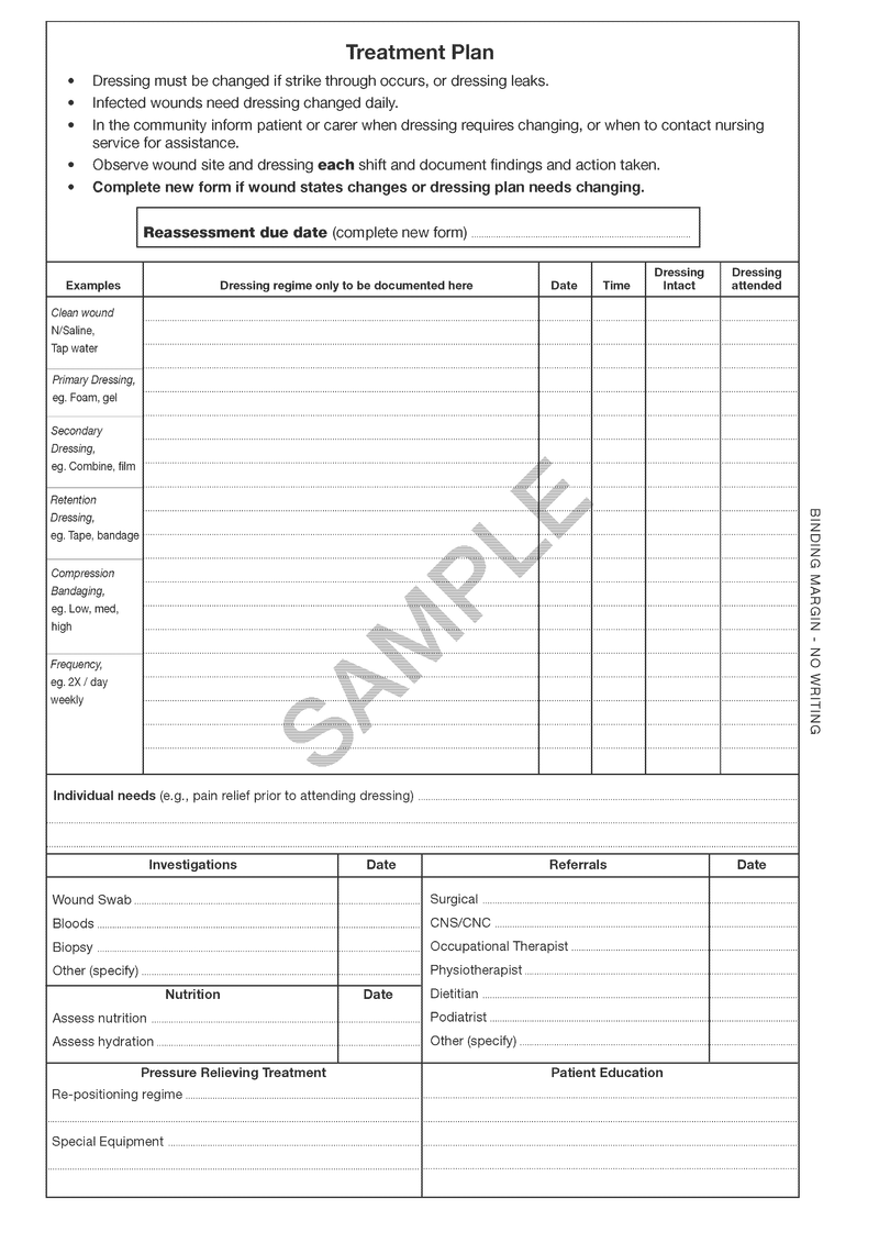 510707 - Wound Assessment & Management Chart - Reassessment