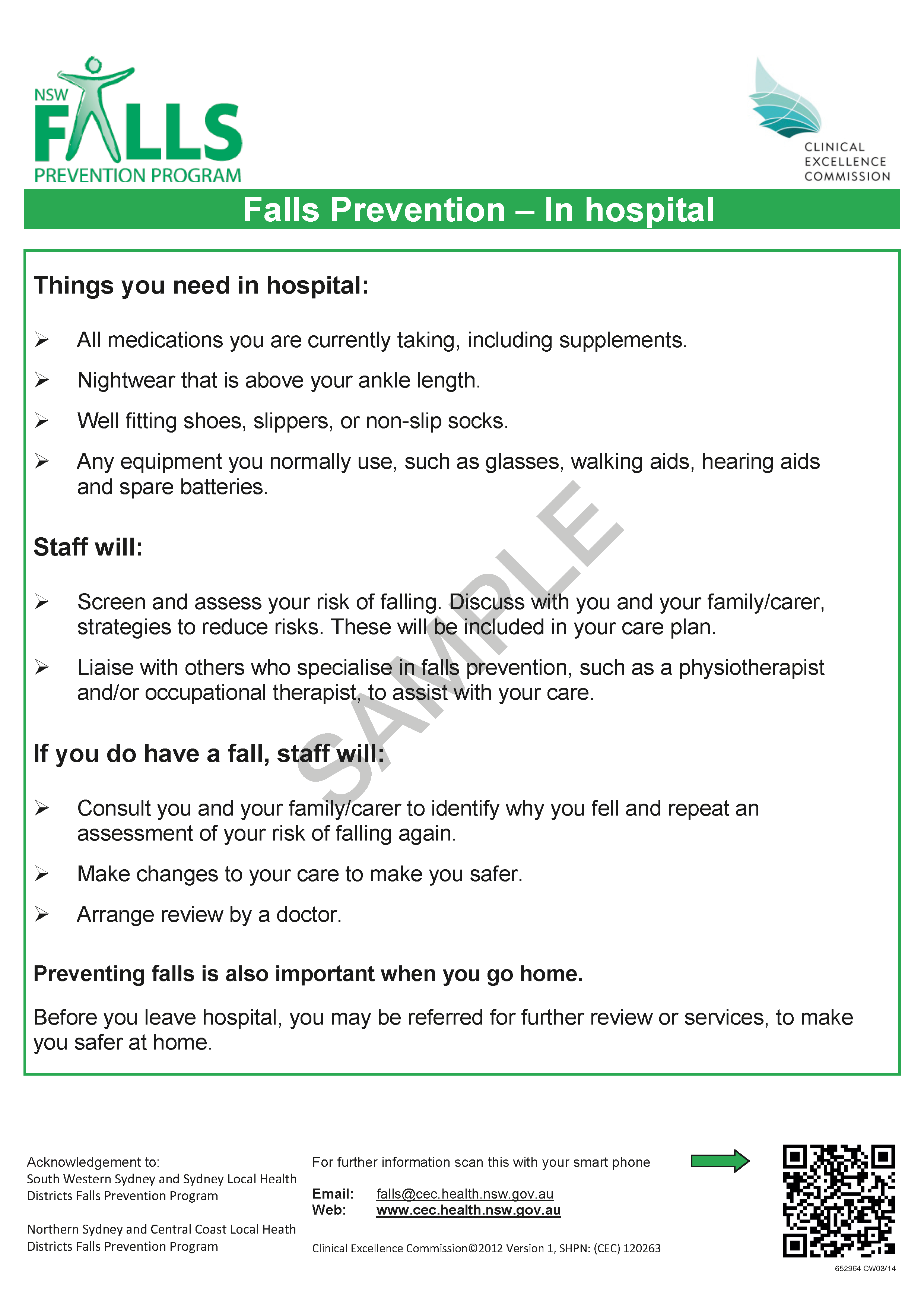 652964 - Falls Prevention CEC in Hospital Fact Sheet