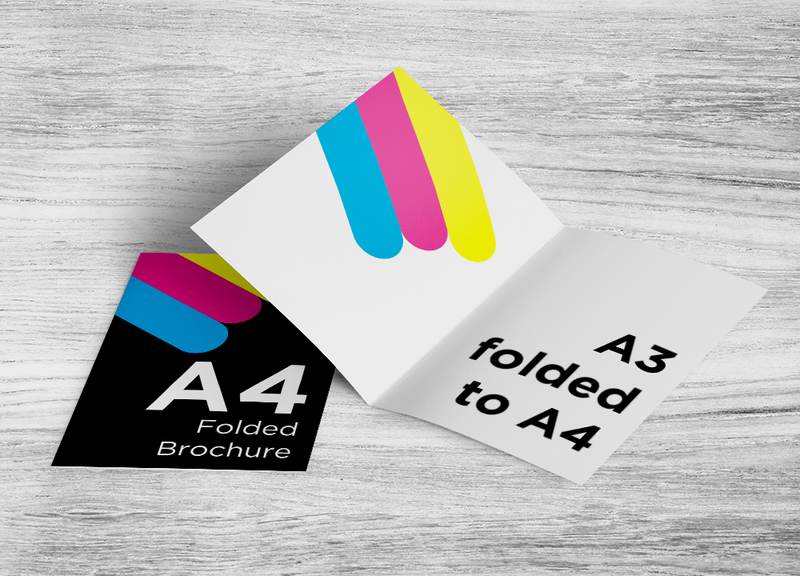 A3 to A4 Folded Brochure (4pp A4)
