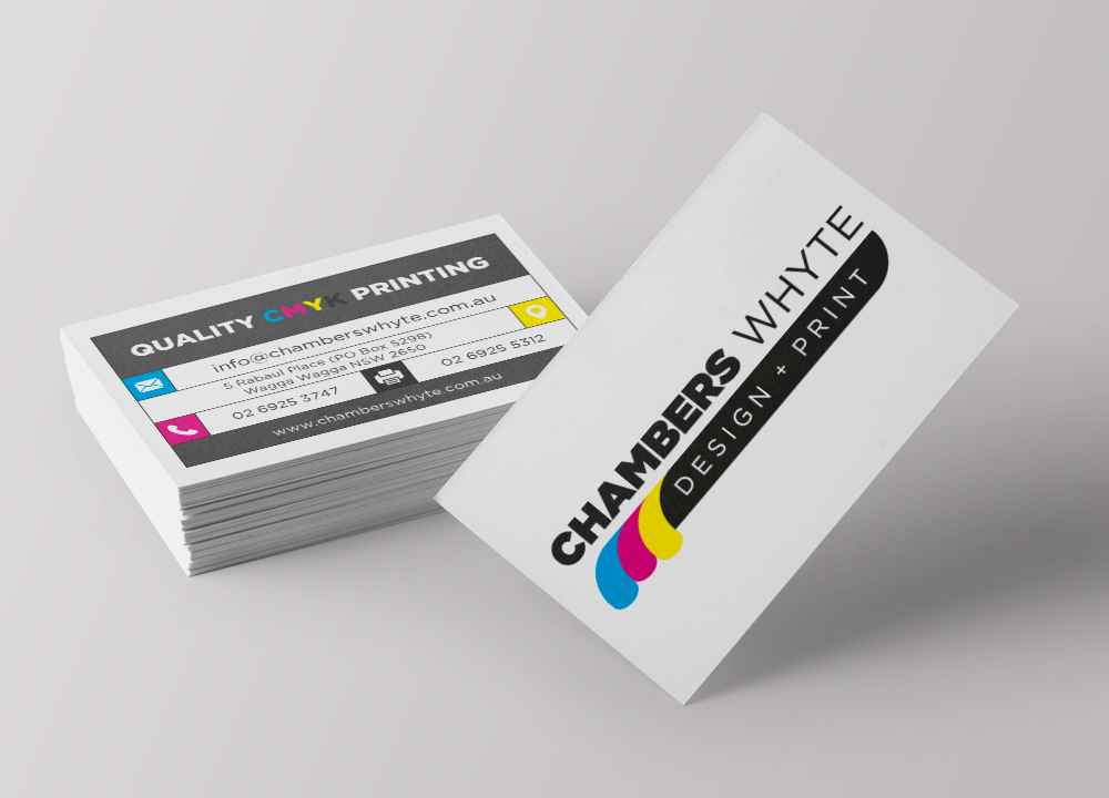 Business Cards Double Sided Chambers Whyte Design And Print