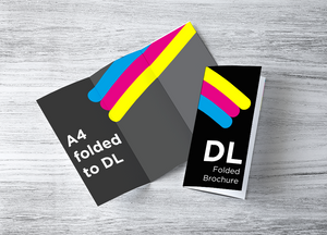 A4 to DL Folded Brochure (6pp DL)