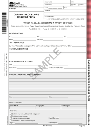MU010.014 - Cardiac Procedure Request Form