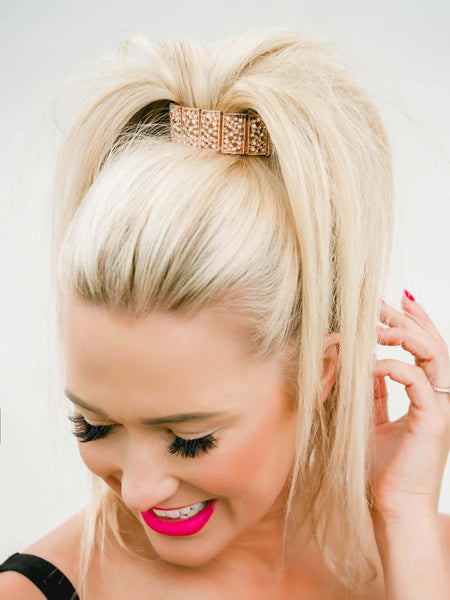 Party ready ponytails with bling ringz
