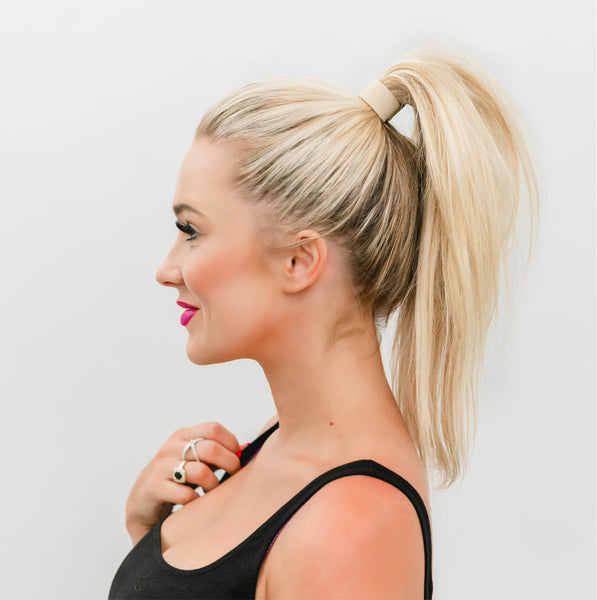 High Ponytail for Yoga