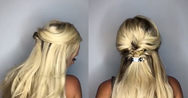 Inside Out Half Up Hairstyle