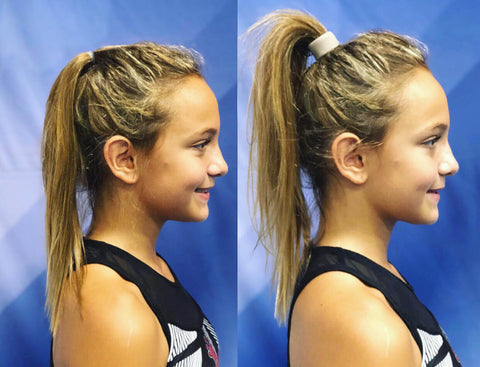 perky ponytails for cheerleaders