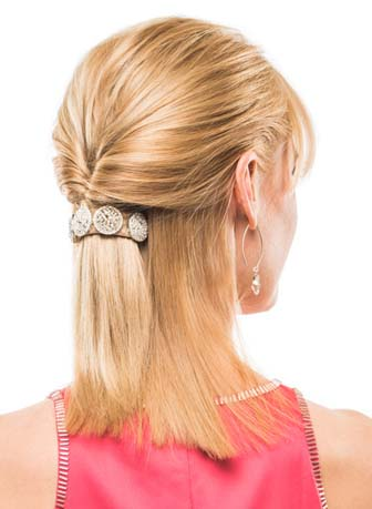 butterfly bangs hairstyle with bling ringz by pony o™