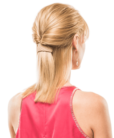 How to wear your hair in a ponytail with bangs
