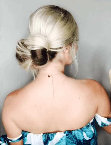 romantic bow updo