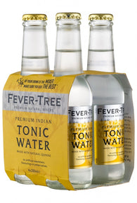 Fever-Tree Premium Indian Tonic Water Bottles 200mL - Case of 24