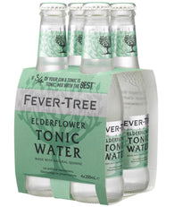 Fever-Tree Elderflower Tonic Water Bottles 200mL - Case of 24