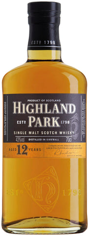 Highland Park 12 Year Old Scotch Whisky