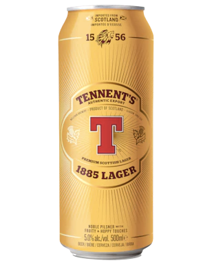 Tennent's Lager Can 500mL- Case of 24 BEST BEFORE 31ST OF AUGUST 2019