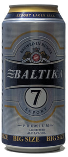 Baltika 7 Premium Lager Beer 900ml Can - Case of 12