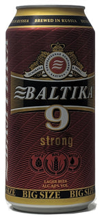 Baltika 9 Strong Lager 8% 900ml Can - Case of 12