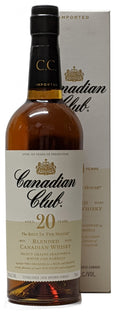Canadian Club 20 Year Old Whiskey