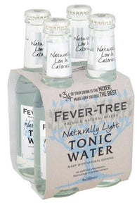 Fever-Tree Naturally Light Tonic Water Bottles 200mL - Case of 24