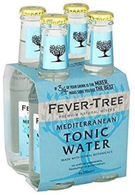 Fever-Tree Premium Mediterranean Tonic Water Bottles 200mL - Case of 24