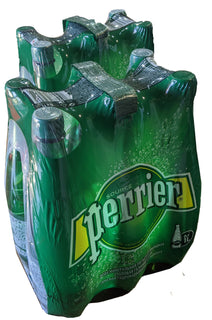 Perrier Sparkling Mineral Water 1L Pet bottles - Case of 12