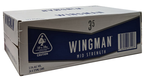 Wingman Mid Strength - Case of 24x375ml Cans