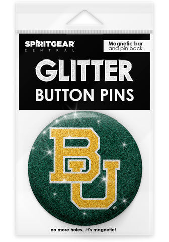 Baylor Bears Glitter Button Pins