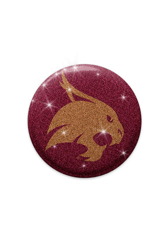 Texas State Bobcats Glitter Magnets