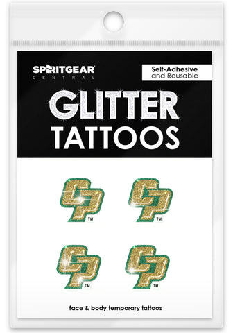 Cal Poly Mustangs Glitter Tattoos 4 Pack