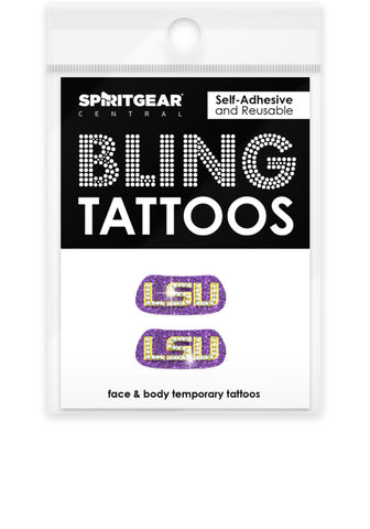 LSU Tigers Bling Eye Blacks