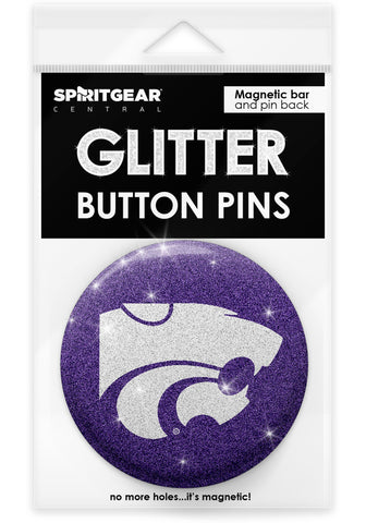 Kansas State Wildcats Glitter Button Pins