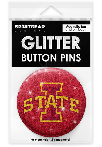 Iowa State Cyclones Glitter Button Pins
