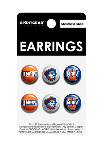 University of Mary Marauders Stud Earrings