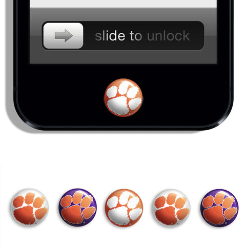Clemson Tigers Udots iPhone iPad Buttons - Spirit Gear Central