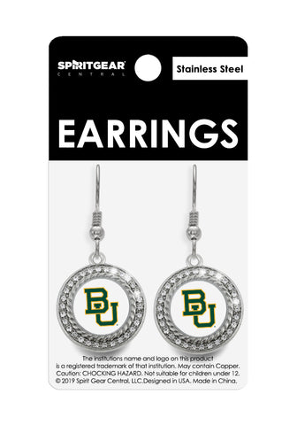 Baylor Bears Dangle Earrings