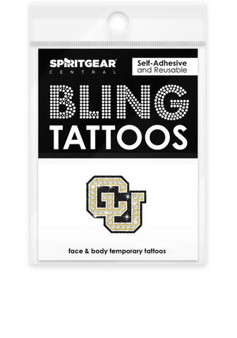 Colorado Buffaloes Bling Tattoos