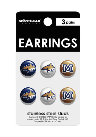 Montana State Bobcats Stud Earrings - Spirit Gear Central