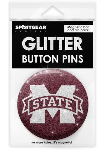 Mississippi State Bulldogs Glitter Button Pins