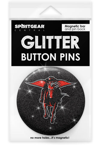 Texas Tech Red Raiders Glitter Button Pins