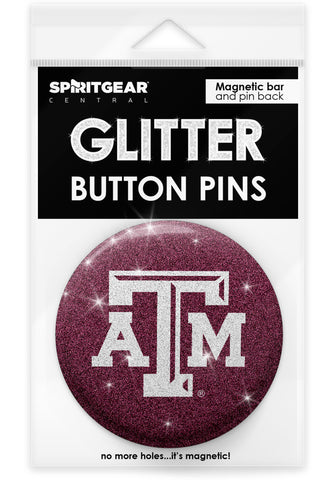 Texas A&M Aggies Glitter Button Pins