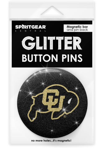 Colorado Buffaloes Glitter Button Pins