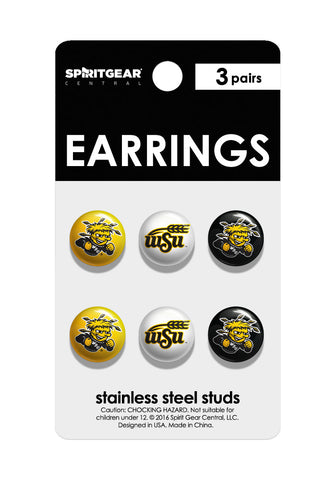 Wichita State Shockers Stud Earrings - Spirit Gear Central