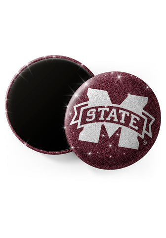 Mississippi State Bulldogs Glitter Magnets