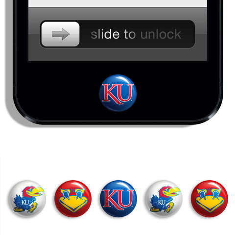 Kansas Jayhawks Udots iPhone iPad Buttons - Spirit Gear Central