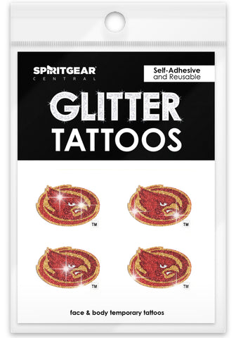 Iowa State Cyclones Glitter Tattoos 4 Pack