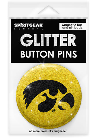 Iowa Hawkeyes Glitter Button Pins