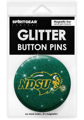 NDSU Bison Glitter Button Pins