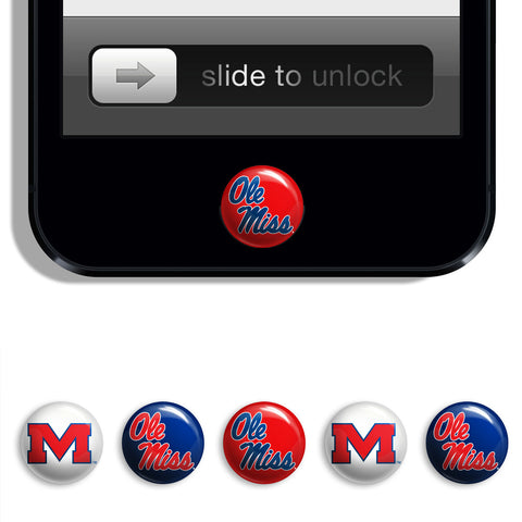 Ole Miss Rebels Udots iPhone iPad Buttons - Spirit Gear Central
