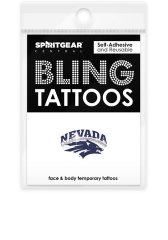 Nevada Wolf Pack Bling Tattoos