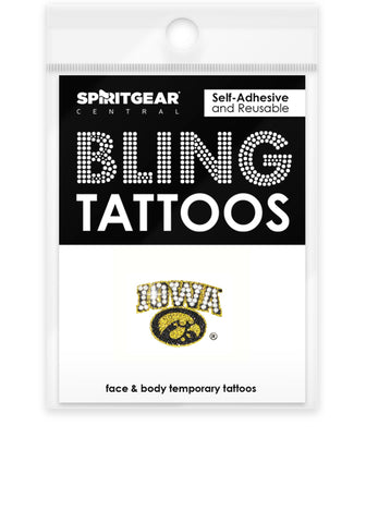 Iowa Hawkeyes Bling Tattoos
