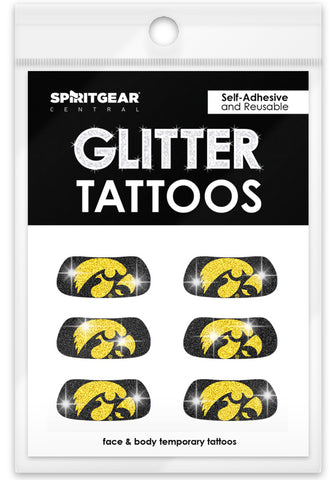Iowa Hawkeyes Glitter Eye Blacks 3 Pack