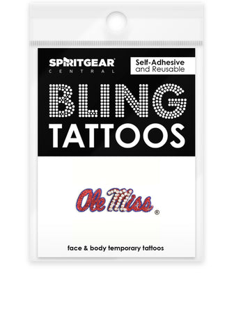 Ole Miss Rebels Bling Tattoos